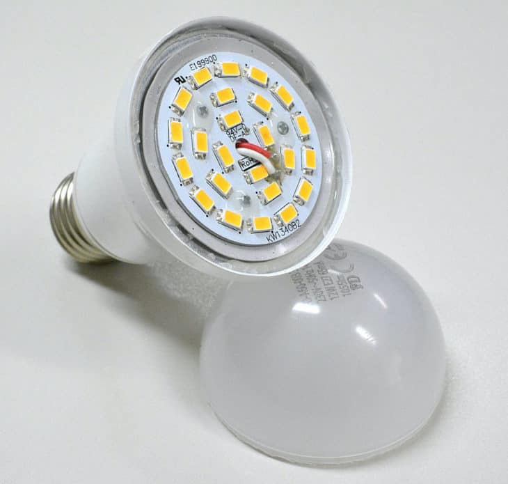 Binnenkant van LED lamp