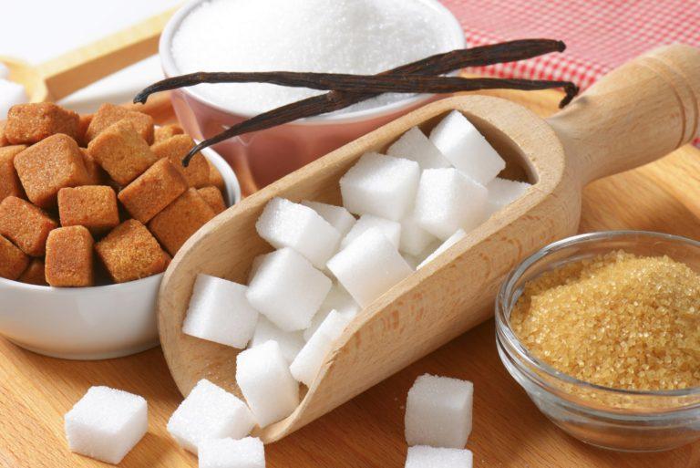 Witte suiker demarara suiker en turbinado suiker